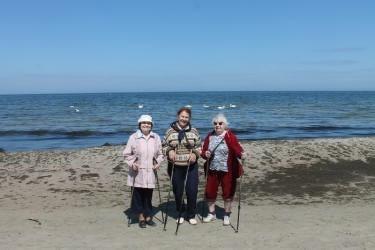 В центре «Добровольцы серебряного возраста» открыта группа скандинавской ходьбы.