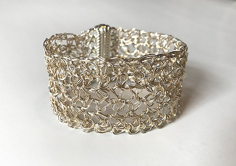 Gold & Silver Crochet Cuff