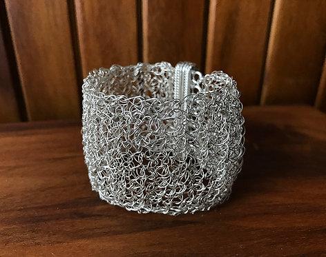Classic Crochet Wide Cuff