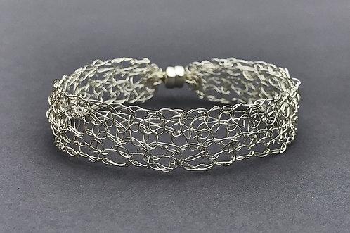 Wire Crochet Sterling Silver Bracelet