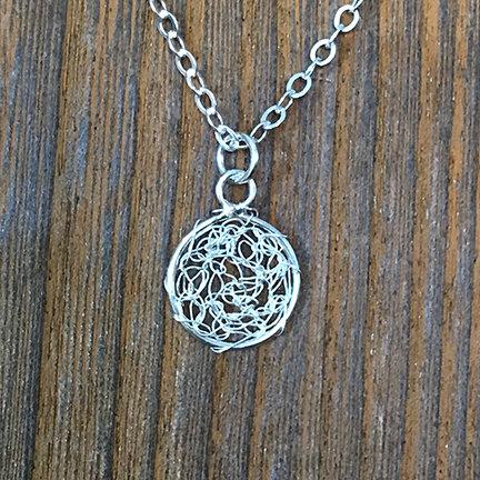 Crochet Circle Pendant