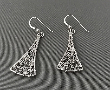 Silver Wire Dangling Earrings
