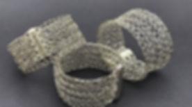 Wire crochet cuffs, wire crochet bracelets