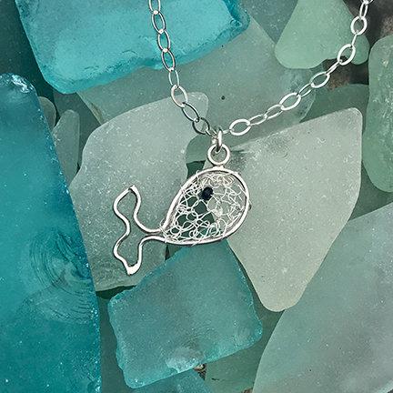 Silver Whale Pendant Necklace