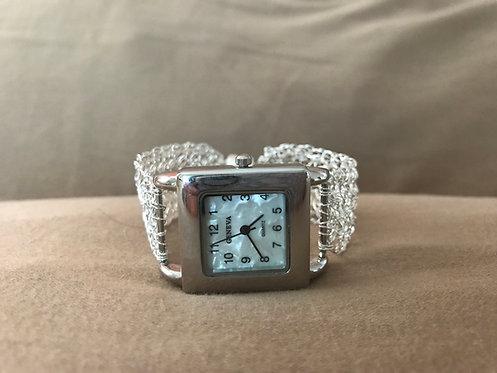 Wire Crochet Silver Watch