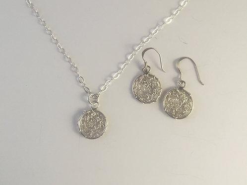 Crochet Silver Circles Gift Set