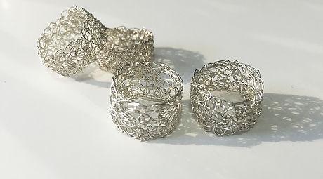 Wire crochet jewelry crochet rings