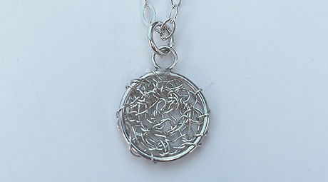 Wire crochet necklaces, crochet jewelry