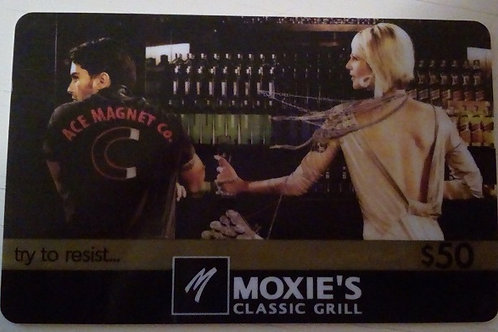 Moxie's E-Gift Card ($50.00 Value)