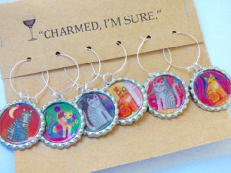 Gift Card Wine Glass Charms