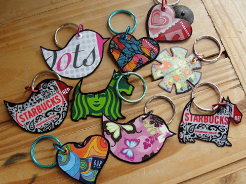 Gift Card Upcycled Keychains