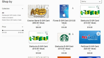 WE SELL GIFT CARDS | 100% GOES TO CHARITY