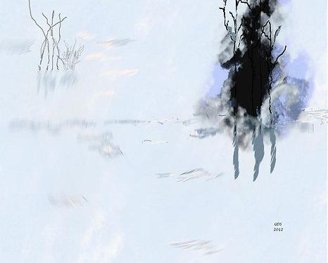 Blue Mysterious Lagoon (Framed)