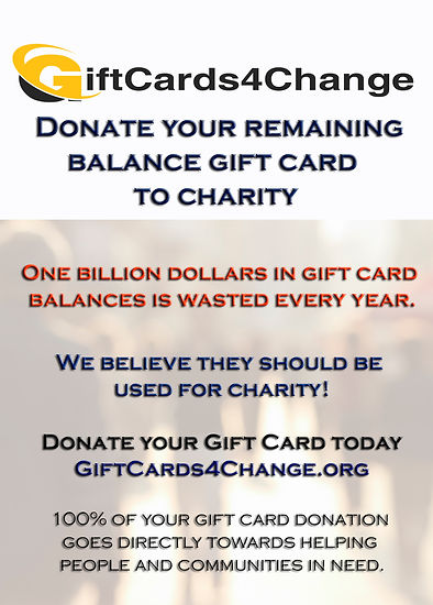 Recycle A Gift Card for Charity