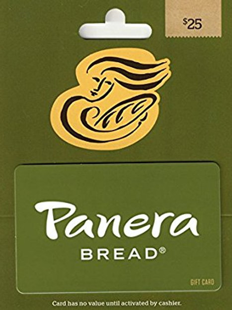 Panera E-Gift Card ($25.00 Value)