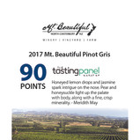 2017 Mt. Beautiful Pinot Gris_90 Points