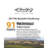 2017 Mt. Beautiful Chardonnay Wine Enthu