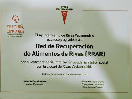 Reconocimiento del Ayuntamiento de Rivas a la labor de la RRAR