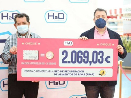Donación del Centro Comercial H2Ocio de Rivas
