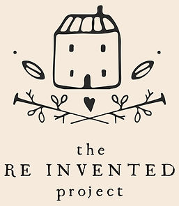 the re invented project logo final blush