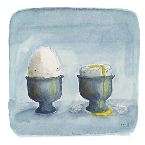 """""""Dang it all to heck,"""" Ellen thought. It was always the good eggs that flamed out early."""