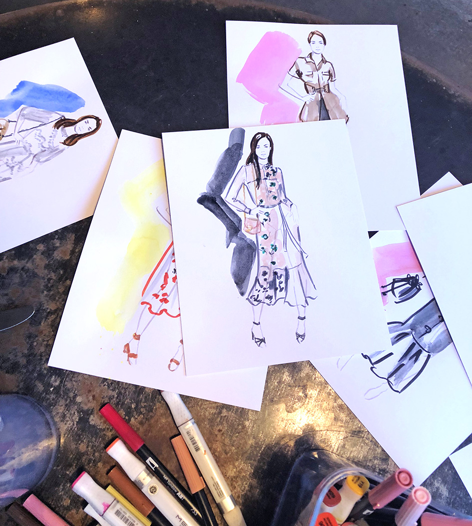 Erin Whitty live illustrations