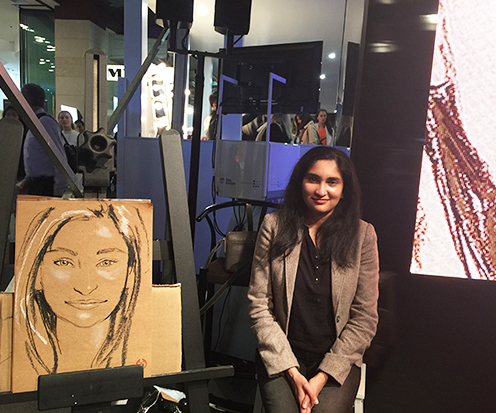 Erin Whitty Live Drawing Portrait