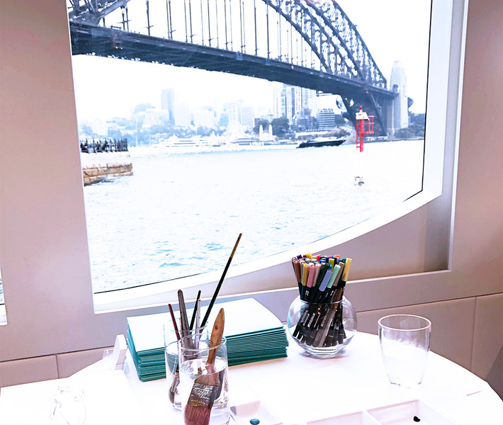 Live Drawing Event on a Superyacht