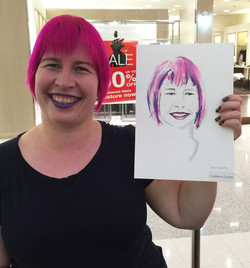 Erin Whitty live illustration