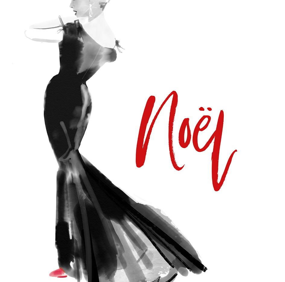Fashion Illustration Xmas Card