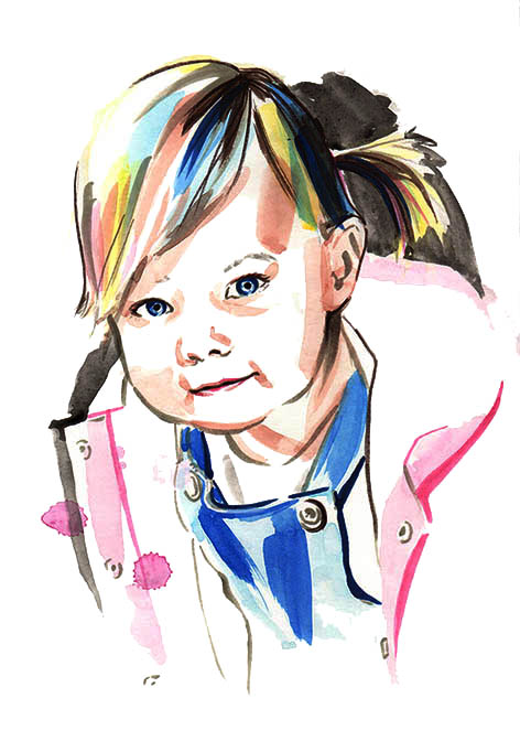 Custom Toddler Portrait