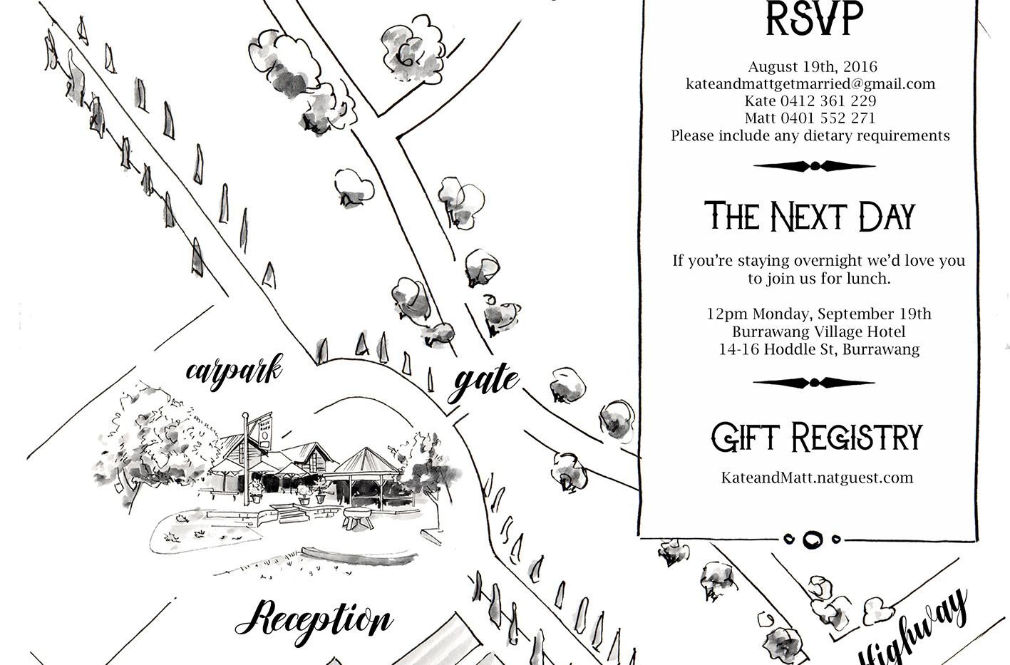 Wedding Venue Map