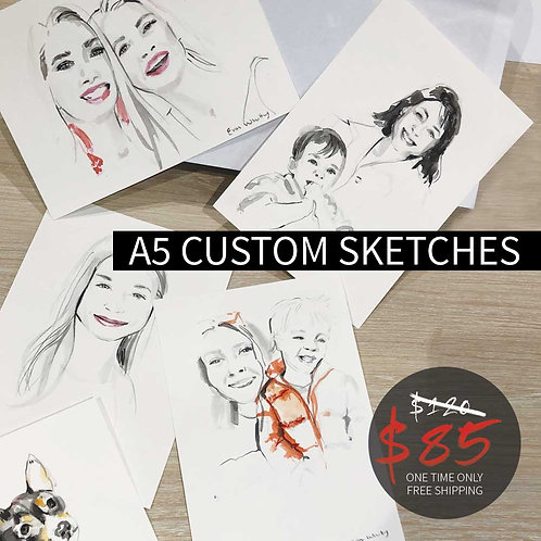 A5 Custom Sketch SECRET SALE