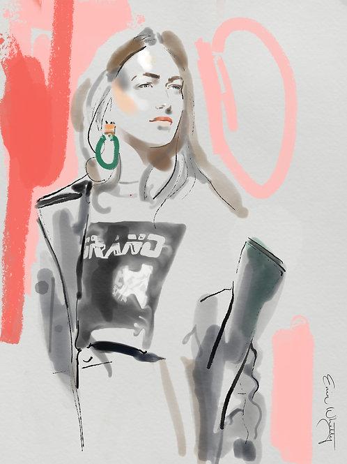 French Girls Know Fashion Fine Art Print