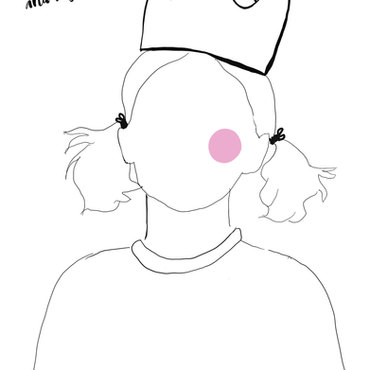 Fashion crown colouring page