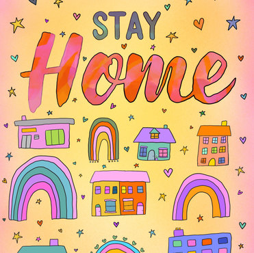 "Exclusive ""Stay at home"" poster"
