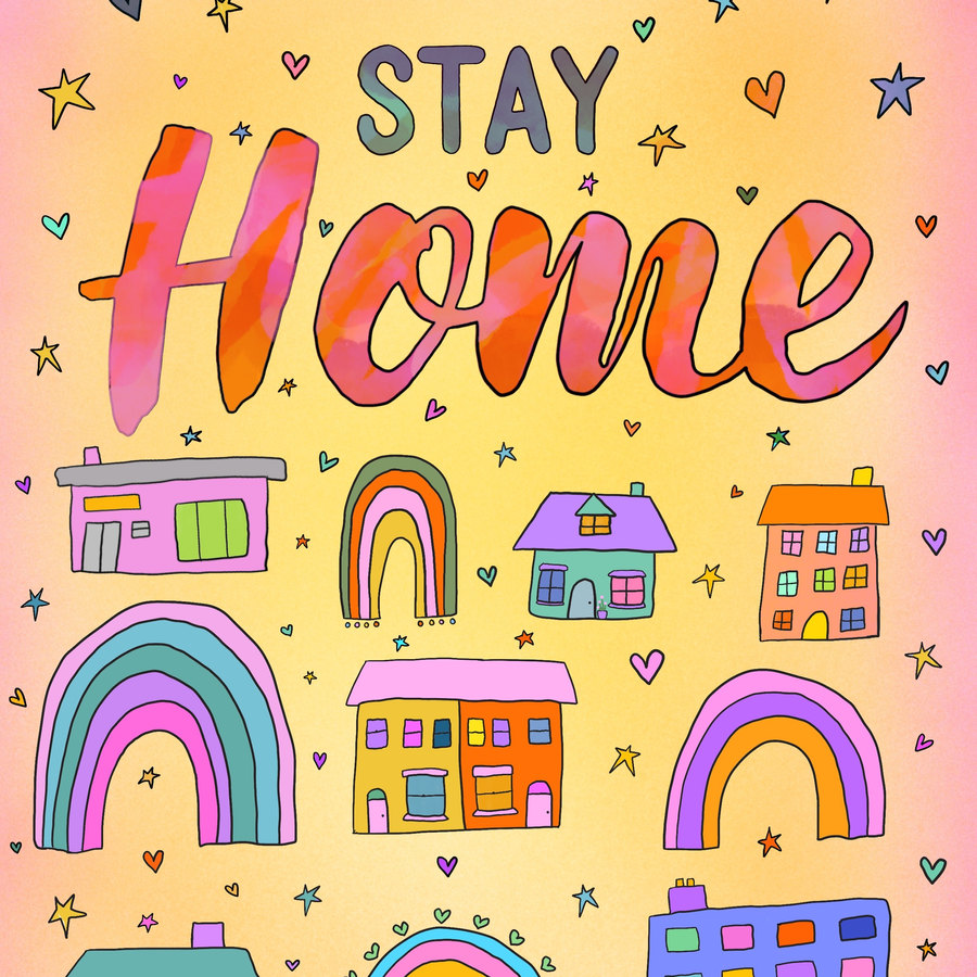 """Exclusive """"Stay at home"""" poster"""
