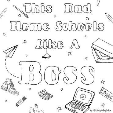 Dad Homeschools Ticketyboostudio