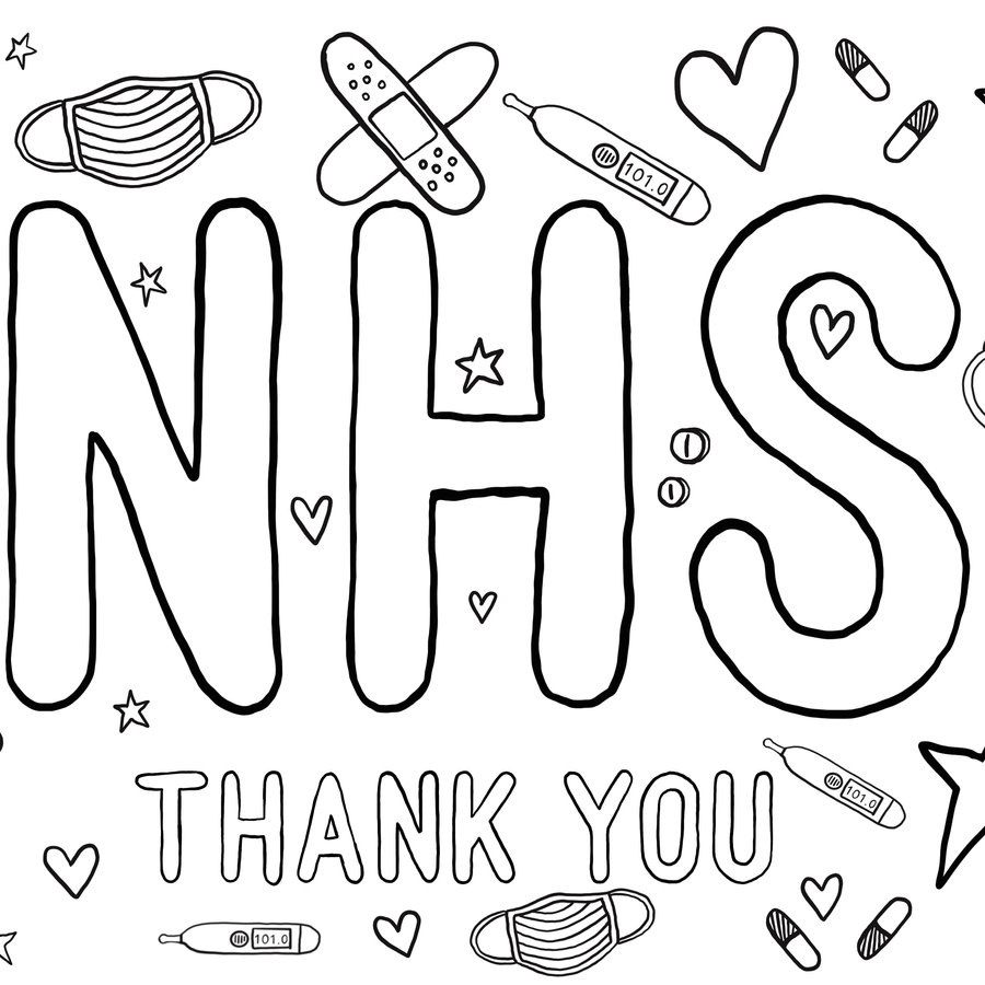NHS colouring page