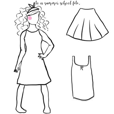 Two fashion outfits colouring