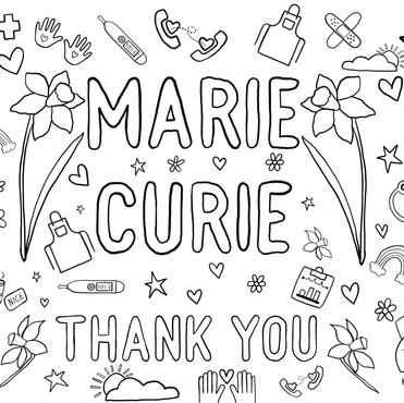 Marie Curie Colouring