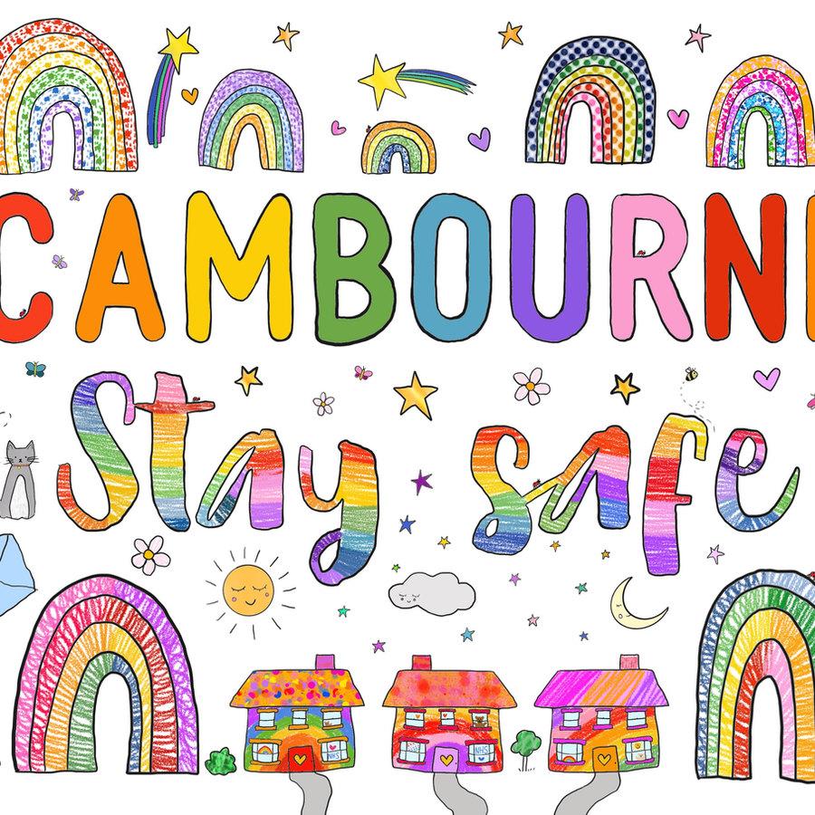Cambourne coloured poster