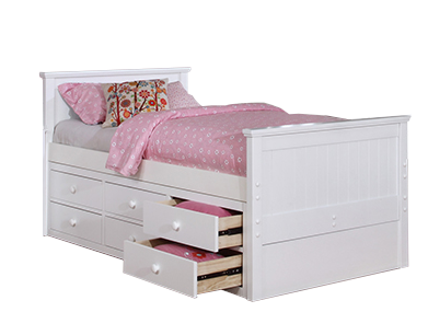Beadboard Twin Bed