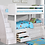 Thumbnail: Beadboard Twin Twin Bunk Bed