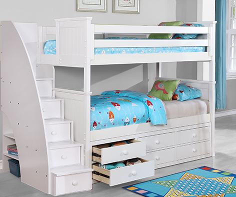 Beadboard Twin Twin Bunk Bed