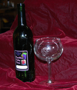 wine label and glass