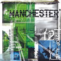 Manchester Skyline (green)
