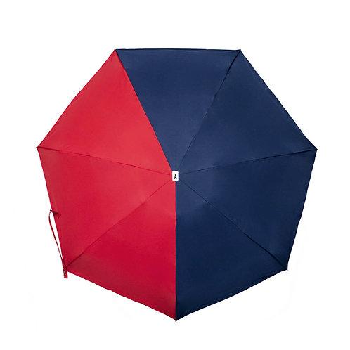 Parapluie micro et solide - Multicolore Bleu nuit et Rouge ANATOLE