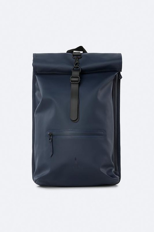 Rolltop Backpack blue RAINS