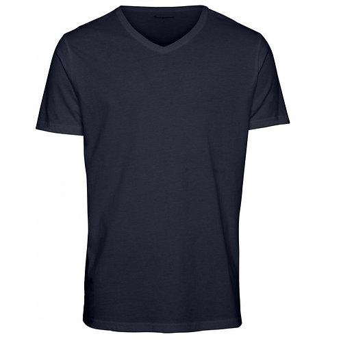 Tee-shirt Alder V neck Eclipse KNOWLEDGE COTTON APPAREL
